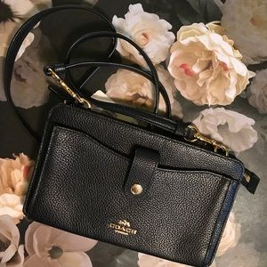 Coach Black Noa Mini Messenger